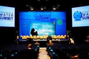 Budapest Water Summit plenary hall